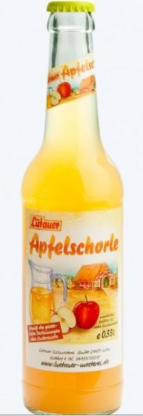 Lütauer Apfelschorle 24x0,33 Mehrweg (D)