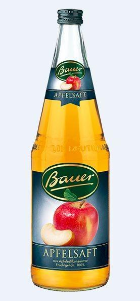 Bauer Apfel klar 6x1,0 Mehrweg
