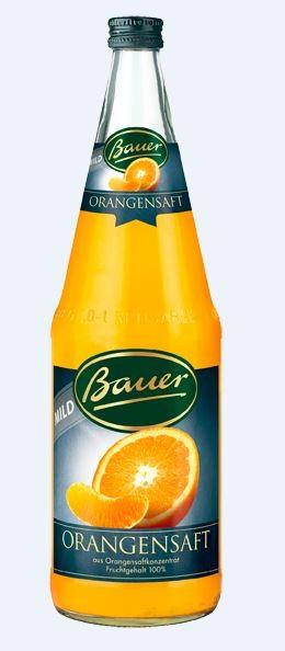 Bauer Orangensaft mild 6x1,0 Mehrweg