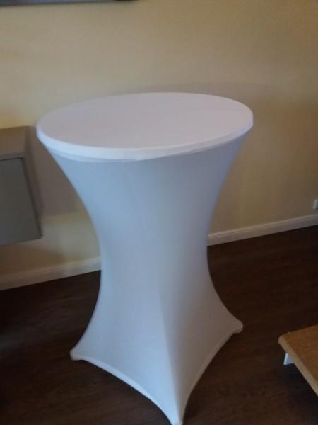 Miet-Stehtisch-Husse Ø 85 cm weiß Selbstabholung