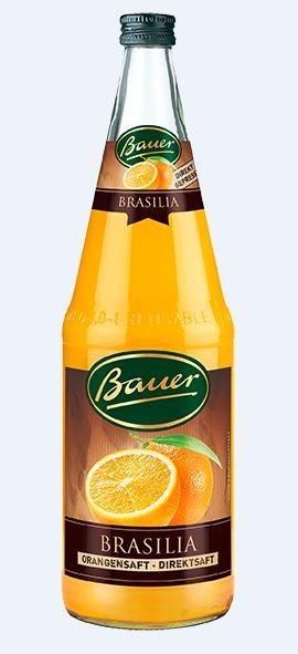Bauer Brasila Orangendirektsaft 6x1,0 Mehrweg