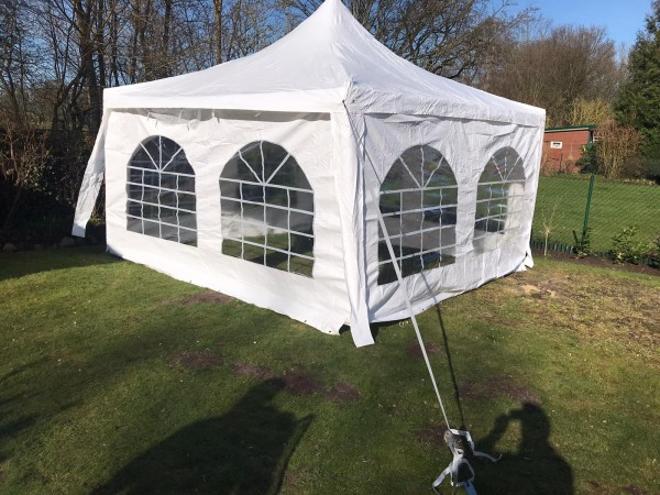 Miet-Pavillon Partyzelt 4 x 4 mtr. Pagode incl. Anlieferung