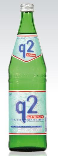 Q 2 medium 12x0,75 Glasfl. Mehrweg
