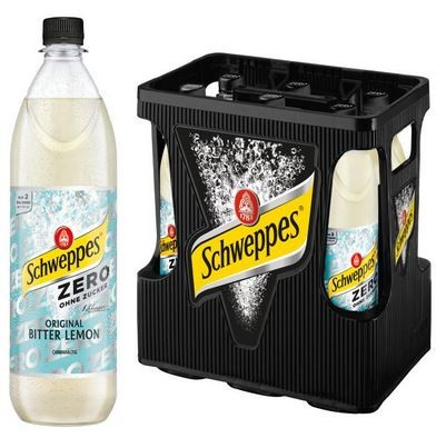 Schweppes Bitter Lemon Zero 6x1,0 PET Mehrweg