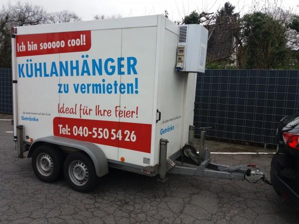 Miet-Kühlanhänger, Anlieferung