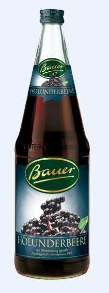 Bauer Holunderbeere 6x1,0 Mehrweg