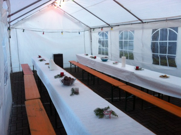 Miet-Partyzelt 3 x 6 mtr. incl. Anlieferung