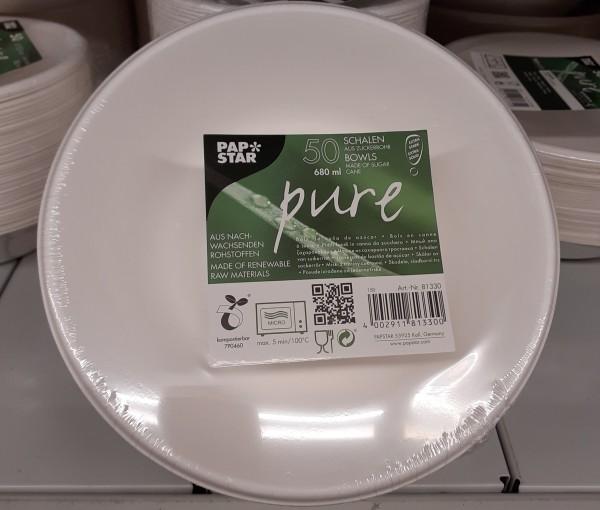 Papstar Schale (Tiefe Teller) Zuckerrohr 50x500 ml (M)