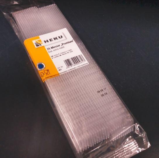 Plastik - Messer transparent 1x25 Stück