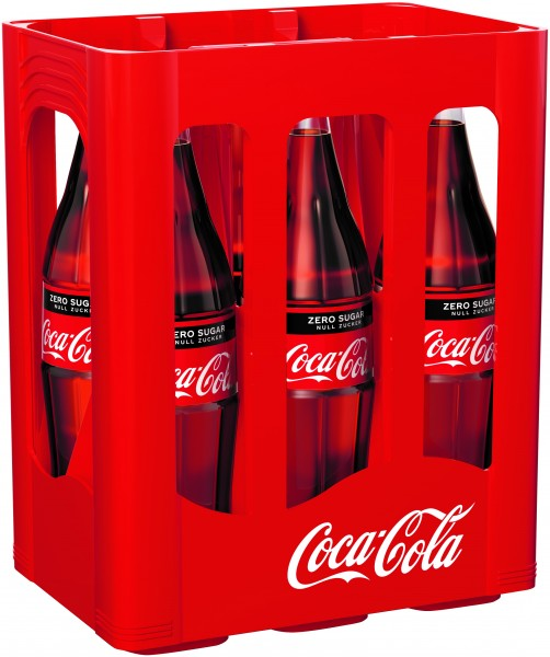 Coca Cola Zero 6x1,0 Glasfl. Mehrweg