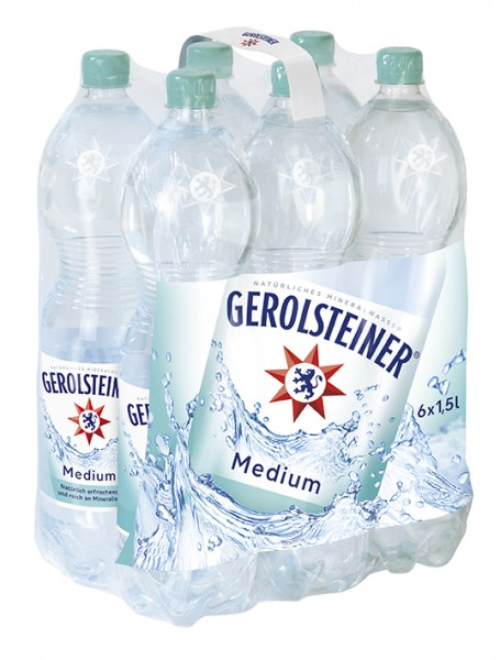 Gerolsteiner medium 6x1,5 PET Einweg