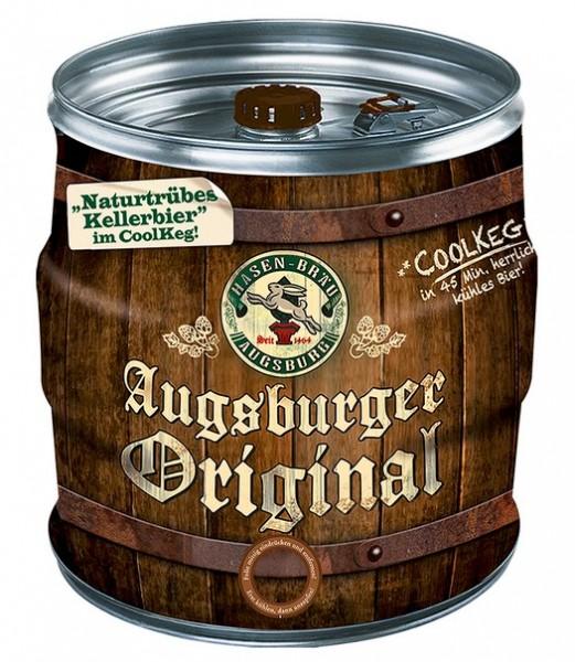 Hasen-Bräu Augsburger Original Cool KEG 10 ltr. Mehrweg