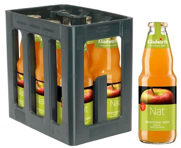 Klindworth Nat Naturtrueber Apfel 6x1,0 Mehrweg (D)