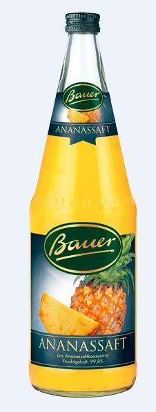 Bauer Ananassaft 6x1,0 Mehrweg