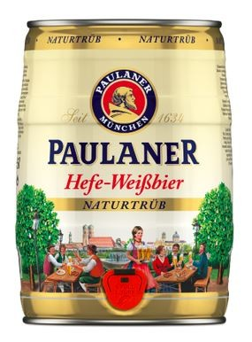 Paulaner Hefe-Weissbier naturtrüb 5 ltr. Einweg