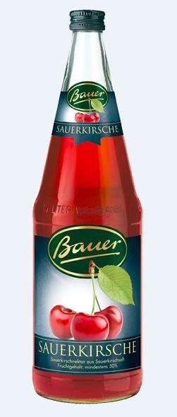 Bauer Sauerkirschnektar 6x1,0 Mehrweg