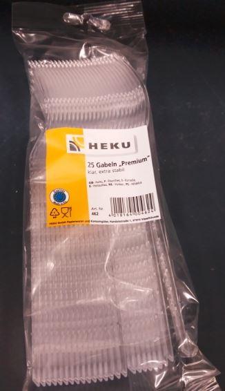 Plastik - Gabeln transparent 1x25 Stück