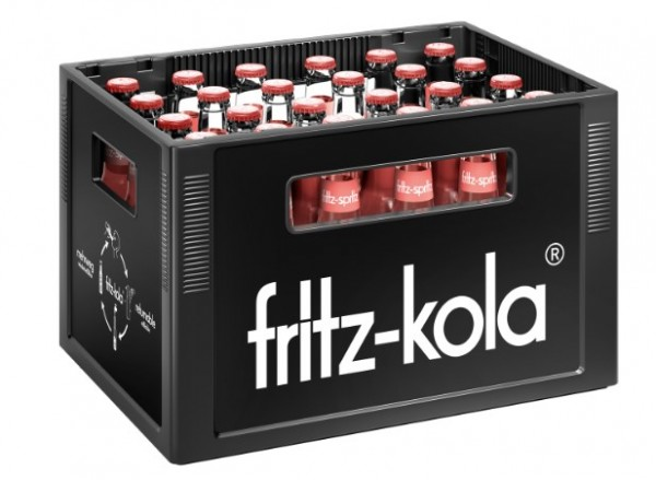 fritz spritz Bio-Rhabarbersaftschorle 24x0,33 Mehrweg