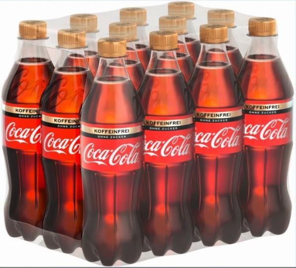 Coca Cola Zero koffeinfrei 12x0,5 PET Einweg