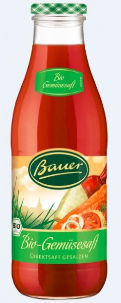 Bauer Bio Gemüsedirektsaft 6x0,98 Mehrweg