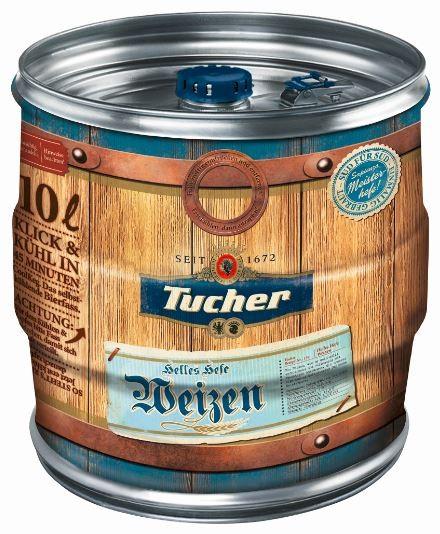 Tucher Helles Hefe Weizen Cool Keg 10 ltr. Mehrweg
