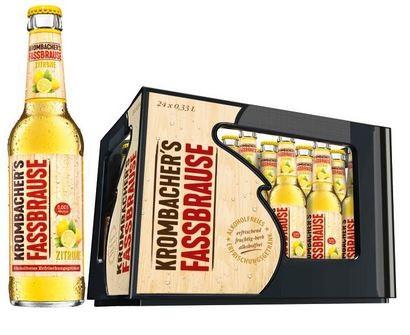 Krombachers Fassbrause Zitrone 24x0,33 Mehrweg (D)