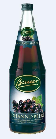 Bauer schwarze Johannisbeere 6x1,0 Mehrweg