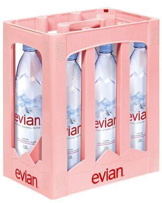 Evian Premium 6x1,25 PET Einweg Kasten (D)