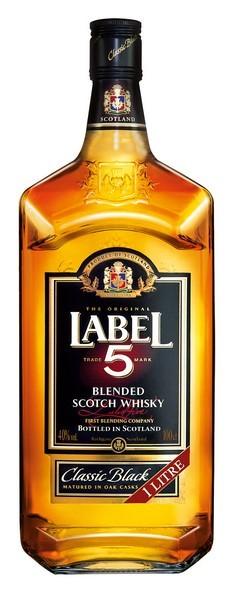 Label 5 Whiskey 40% 0,7 Einweg