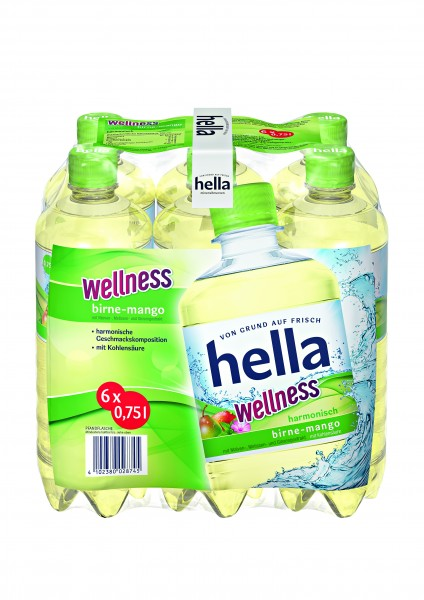 Hella Wellness 6x0,75 PET Einweg