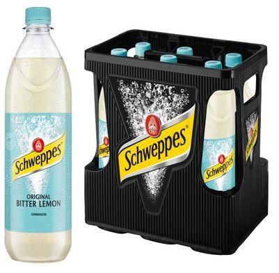 Schweppes Original Bitter Lemon 6x1,0 PET Mehrweg (D)