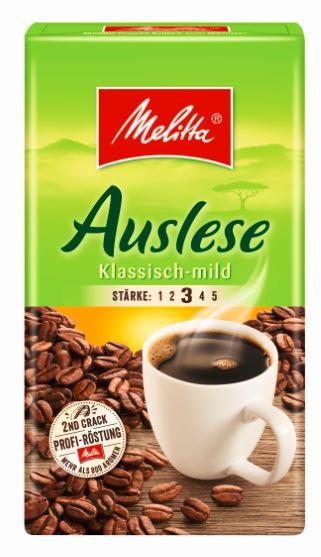 Melitta Kaffee Auslese mild 500 gr. gemahlen