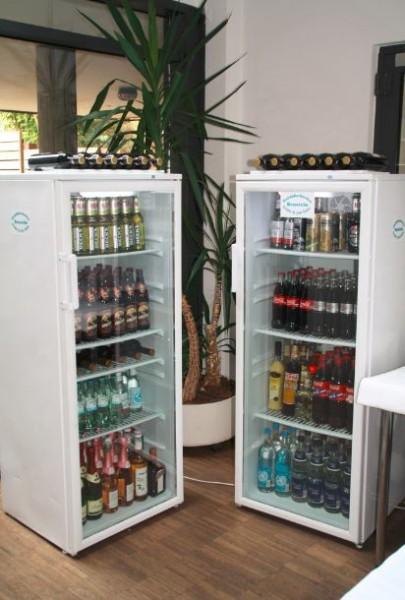 Miet-Glastür-Kühlschrank 1,50 mtr. hoch, incl. Anlieferung
