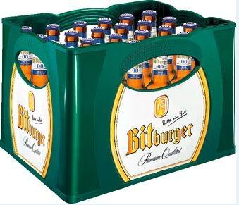 Bitburger 0,0% alkoholfreies Pils 24x0,33 Mehrweg