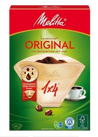 Melitta Kaffeefilter Größe 4, 1 x 40 Stück