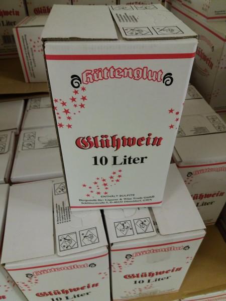 Hüttenglut Glühwein 10 ltr. (M) Einweg