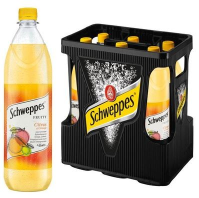 Schweppes Fruity Citrus Orange 6x1,0 PET Mehrweg