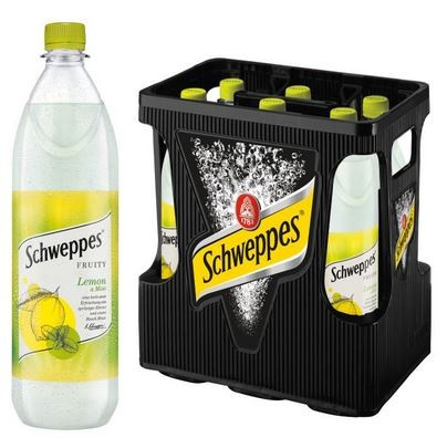 Schweppes Fruity Lemon Mint 6x1,0 PET Mehrweg