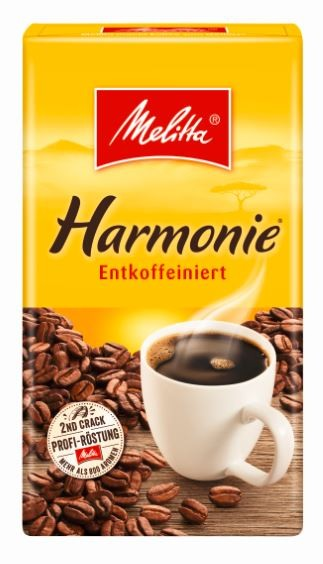 Melitta Kaffee Harmonie entkoffeiniert 500 gr. gemahlen