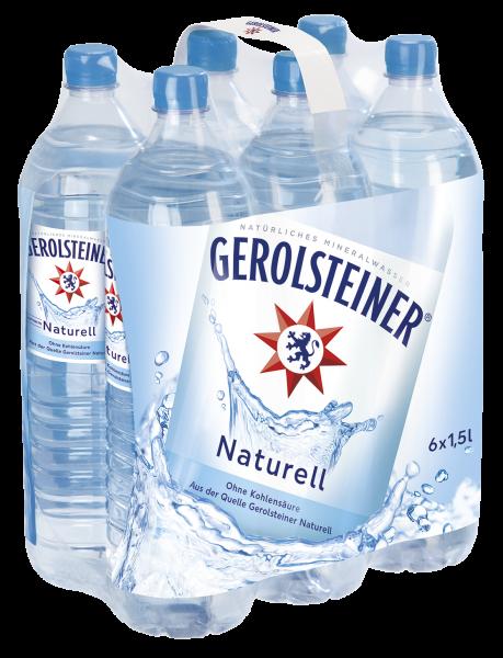 Gerolsteiner naturell 6x1,5 PET Mehrweg (D)