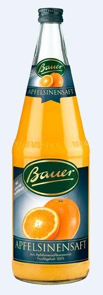 Bauer Apfelsine 6x1,0 Mehrweg