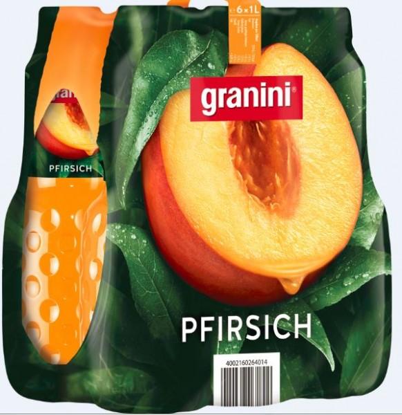 Granini Pfirsich 6x1,0 PET Einweg
