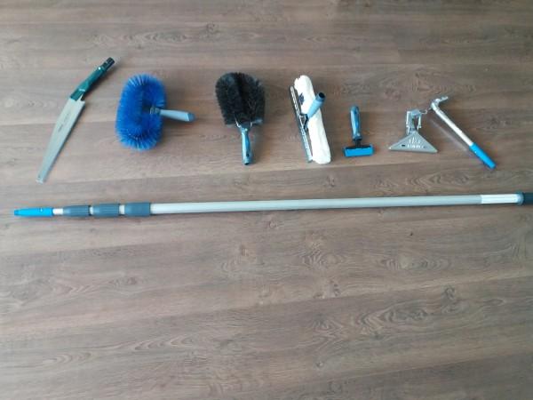 Miet-Teleskopstange 6 mtr mit Werkzeugen incl. Anlieferung